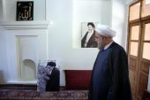 الرئيس روحاني يزور بيت الامام في خمين
