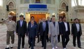 وزير الطاقة الجزائري يزور مرقد الامام الخميني
