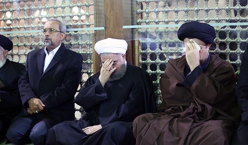 الرئيس روحاني يزور مرقد الامام الراحل و الشيخ رفسنجاني