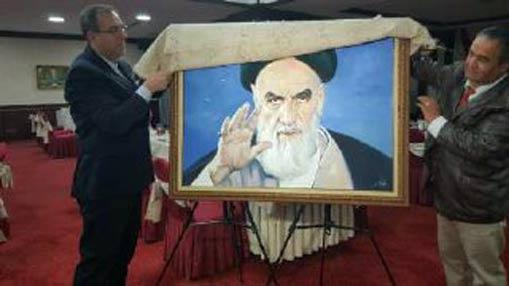 Dévoilement du portrait de l'Imam Khomeini