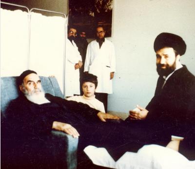 Admission de l'Imam Khomeini (Que DIEU sanctifie son noble secret) à l'hôpital