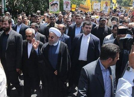 Président Rohani assite à des rassemblements de la Journée Al-Quds