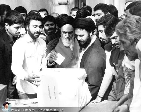La vote de l`Imam Khomeini (Que DIEU le bénisse)