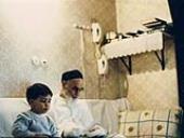L`Imam Khomeini avec les enfants
