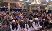 حرم مطہر امام خمینی(ره) میں افغانستانی خاندان کی شہداء کو خراج تحسین