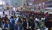 حرم امام خمینی(ره) میں، خانہ بدوش کے بچوں کا پہلا جشن عبادت اور ان کی ٹریننگ